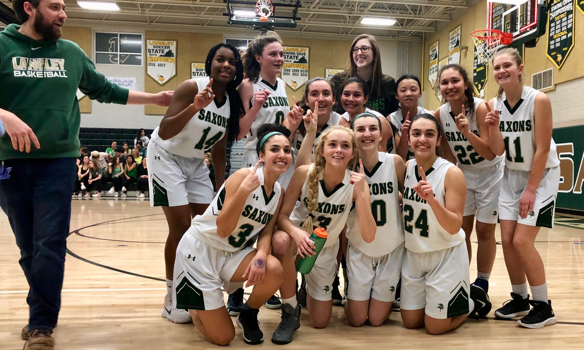 Langley JV Girls Basketball Undefeated 2019