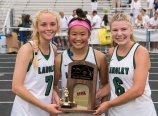 Alexa Romero, Erica Chung, Courtney Kuligowski Midfielders Virginia State Champions USC Lacrosse